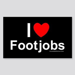 Footjobs Sticker (Rectangle)