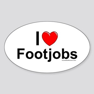 Footjobs Sticker (Oval)
