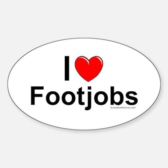 Footjobs Sticker (Oval)