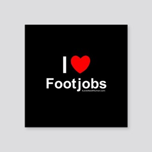 "Footjobs Square Sticker 3"" x 3"""