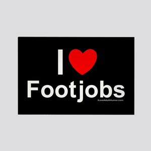 Footjobs Rectangle Magnet