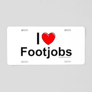 Footjobs Aluminum License Plate