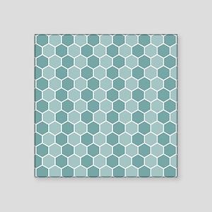 Hexagon Pattern Blues Sticker