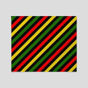 Reggae Stripes Throw Blanket