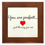 You Are Perfect Framed Tile