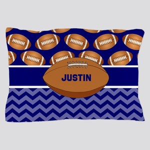 Football Blue Personalized Pillow Case
