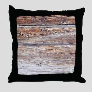Wood Panel Throw Pillow