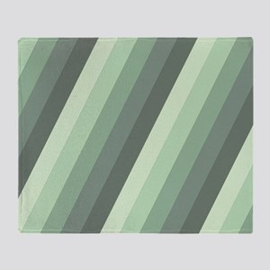 Green Striped Throw Blanket