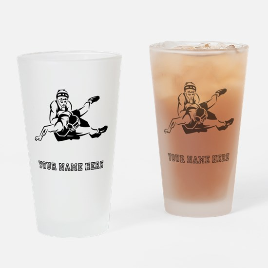 Custom Wrestling Drinking Glass