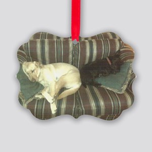 Dog Tired Picture Ornament
