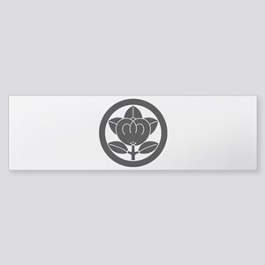 Mandarin orange in circle Sticker (Bumper)