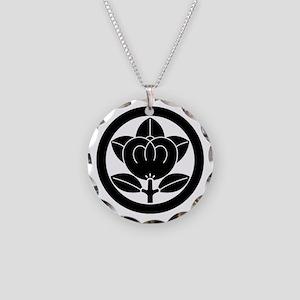 Mandarin orange in circle Necklace Circle Charm