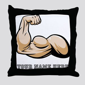 Custom Bicep Flex Throw Pillow