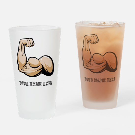 Custom Bicep Flex Drinking Glass