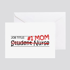 Job Mom Student Nurse Greeting Card