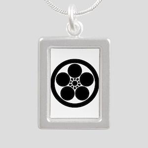 Umebachi-style plum blos Silver Portrait Necklace