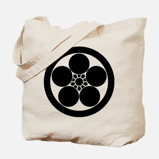 Umebachi-style plum blossom in circle Tote Bag