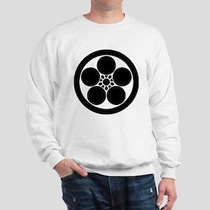 Umebachi-style plum blossom in circle Sweatshirt
