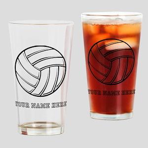 Custom Volleyball Drinking Glass