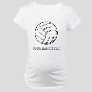 Custom Volleyball Maternity T-Shirt