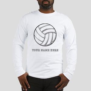 Custom Volleyball Long Sleeve T-Shirt
