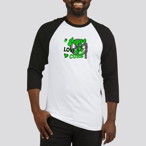 Lyme Disease PeaceLoveCure2 Baseball Jersey