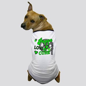 Lyme Disease PeaceLoveCure2 Dog T-Shirt