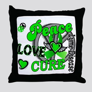 Lyme Disease PeaceLoveCure2 Throw Pillow