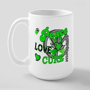 Lyme Disease PeaceLoveCure2 Large Mug