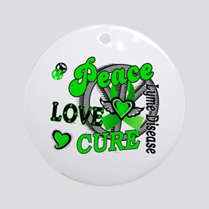 Lyme Disease PeaceLoveCure2 Ornament (Round)