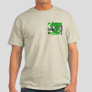 Lyme Disease PeaceLoveCure2 Light T-Shirt