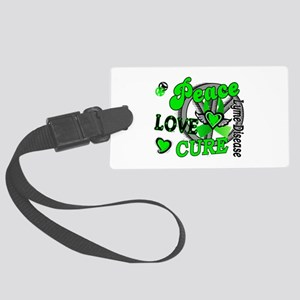 Lyme Disease PeaceLoveCure2 Large Luggage Tag