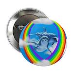 Rainbow Dolphin Button