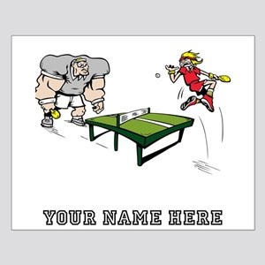 Custom Table Tennis Cartoon Posters
