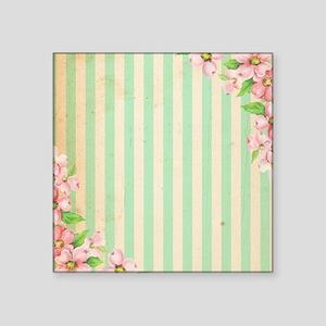 Candy Flower Stripes Green Sticker