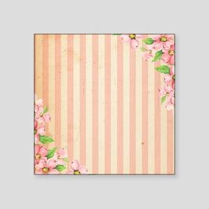 Pink & Cream Candy Stripes Sticker