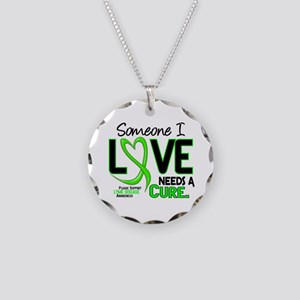 Lyme Disease Needs a Cure 2 Necklace Circle Charm