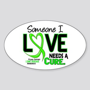 Lyme Disease Needs a Cure 2 Sticker (Oval)