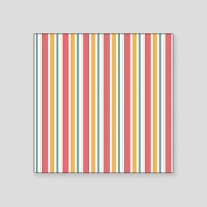 Pink & Orange Candy Stripes Sticker