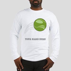 Custom Flying Tennis Ball Long Sleeve T-Shirt