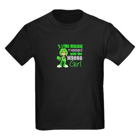 Lyme Disease MessedWithWrongGirl Kids Dark T-Shirt