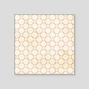 Cream Shower Curtain Circle Pattern Sticker