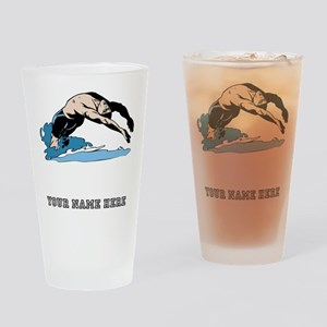 Custom Backstroke Dive Drinking Glass
