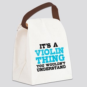 Violin Thing Canvas Lunch Bag