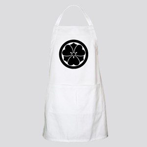 Wood sorrel with swords in circle Apron