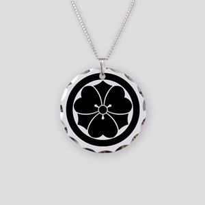 Wood sorrel with swords in c Necklace Circle Charm