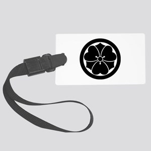 Wood sorrel with swords in circl Large Luggage Tag