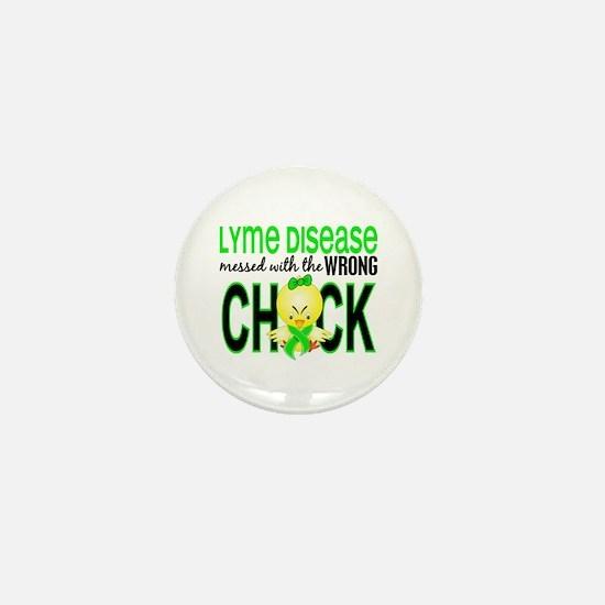 Lyme Disease MessedWithWrongChick1 Mini Button