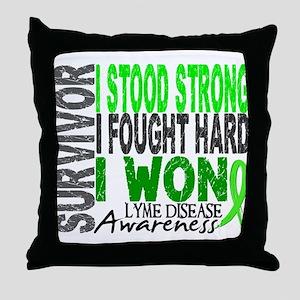Lyme Disease Survivor 4 Throw Pillow