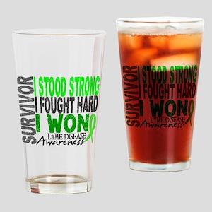 Lyme Disease Survivor 4 Drinking Glass